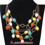 New Fashion MultiLayer Colorful Bubble Bib Statement Necklace