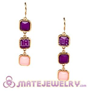 Fashion Gold Plated Drop Resin Bubble Earrings Wholesale