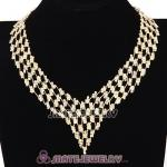 Chunky Multilayer Crystal Choker Collar Bib Necklace Wholesale
