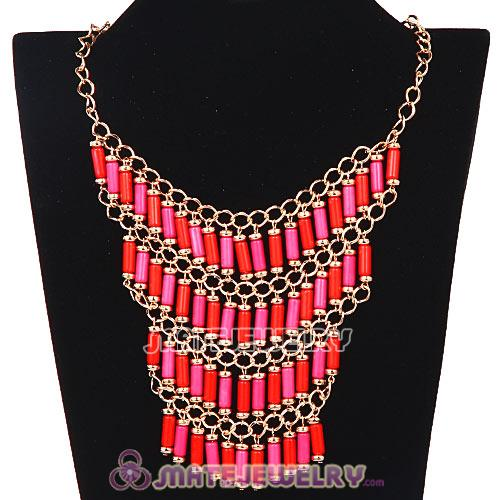 Gold Chain Multilayer Choker Bib Necklaces Wholesale