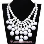 Fashion Cascade White Bauble Bib Anthropologie Necklace Wholesale