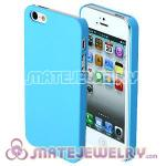 Ultra Slim Cyan Frosted Hard Cover Cases For iPhone5 Gen 5th 5G