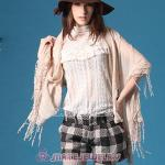 Sweet Mori Girl Style Pashmina Scarf Lace Tassel Shawl Scarves Wholesale