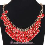 2012 New Coral Chunky Multi Layers Bubble Bib Statement Necklace
