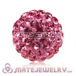 12mm Pink Pave Czech Crystal Beads Earrings Component Findings
