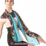 Fashion Office Lady Silk Scarf Textile Printing Pashmina Scarves Shawls