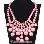 Fashion Cascade Pink Bauble Bib Anthropologie Necklaces Wholesale