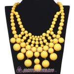 Fashion Cascade Yellow Bauble Bib Anthropologie Necklaces Wholesale