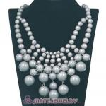 Fashion Cascade Grey Bauble Bib Anthropologie Necklaces Wholesale