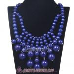 Fashion Cascade Navy Bauble Bib Anthropologie Necklaces Wholesale