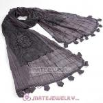 Urban Retro Tassel Cottony Scarves Pashmina Scarf Shawl For Women