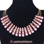 Wholesale Chunky Multilayer Resin Rhinestone Choker Bib Necklaces