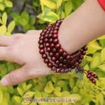 Wholesale 108 Pieces Red wood Beads Buddhist Prayer Bracelets Wrist Mala
