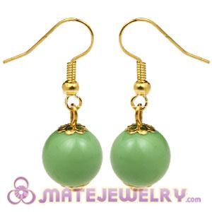 Fashion Gold Plated Olivine Hoop Plastic Bubble Earrings Wholesale
