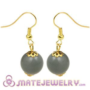 Fashion Gold Plated Grey Hoop Plastic Bubble Earrings Wholesale