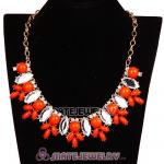 Resin Rhinestone Crystal Marquess Lily Choker Bib Necklaces Wholesale
