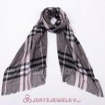 Cashmere Wool Stripes Scarf Wrap Pashmina Shawl Scarves For Women