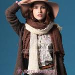 Mori Girl Coffee Extra Long Scarves Knitting Style Pashmina Shawl Scarf