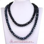 Fashion Long Black Faceted Glass Kenneth Jay Lane Necklaces