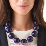 Wholesale Navy Large Bead Necklace