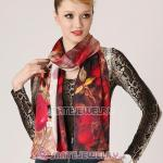 New Arrival European Mulberry Silk Scarves Digital Painting Pashmina Shawls