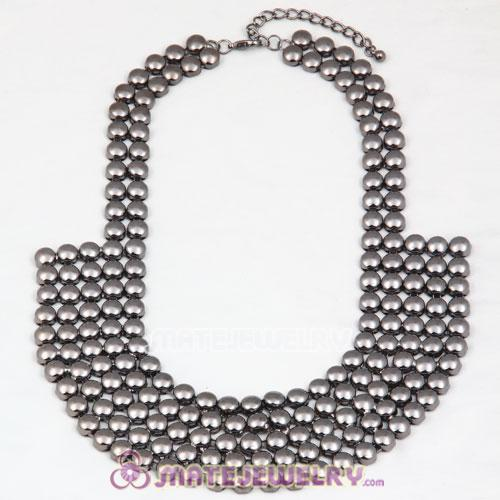 Wholesale Gun Black Bubble Bib Collar Necklace