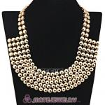 Wholesale Gold Bubble Bib Collar Necklace