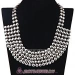 Wholesale Silver Bubble Bib Collar Necklace