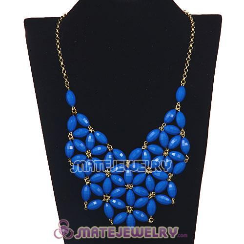 2012 New Fashion Blue Bubble Bib Statement Necklace