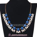 2013 New Fashion Crystal Dewdrop Navy Resin Bubble Necklace Jewelry