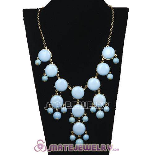 2013 New Fashion Morning Sky Blue Bubble Bib Statement Necklace