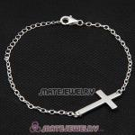 Wholesale 925 Sterling Silver Fashion Sideways Cross Bracelet