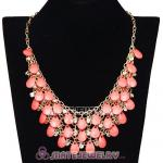 Multilayers Cascade Roseo Resin Crystal Bubble Bib Necklaces Wholesale