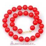 2013 New Fashion 14mm Coral Red Bubble Necklace Wholesale