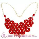 2012 New Fashion Coral Bubble Bib Statement Necklace