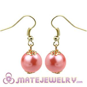 Fashion Gold Plated Pink Pearl Bubble Earrings Wholesale