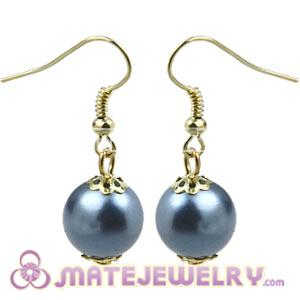 Fashion Gold Plated Grey Pearl Bubble Earrings Wholesale