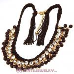 2013 Fashion Costume Jewelry Ladies Crystal Beaded String Necklace