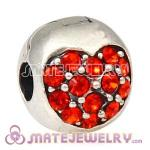 925 Sterling Silver Love Of My Life Clip Beads With Hyacinth Austrian Crystal