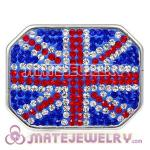 Handmade CCB Pave Crystal British Flag Beads For Bracelet