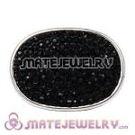Wholesale Handmade CCB Pave Black Crystal Beads For Bracelet