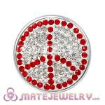 Wholesale Handmade CCB Pave Crystal Peace Sign Charms For Bracelet