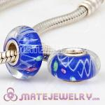 European beads with blue color murano glass beads