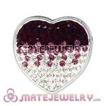 Wholesale Handmade CCB Pave Crystal Heart Charms For Bracelet