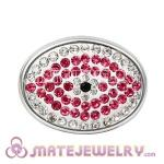 Wholesale Handmade CCB Pave Crystal Evil Eye Charms For Bracelet
