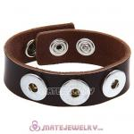 Wholesale Noosa Amsterdam Leather Bracelets Dark Brown