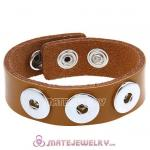 Wholesale Noosa Amsterdam Leather Bracelets Light Brown
