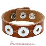 Wholesale Noosa Amsterdam Leather Bracelets Brown
