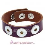 Wholesale Noosa Amsterdam Leather Bracelets Purple
