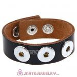 Wholesale Noosa Amsterdam Leather Bracelets Black